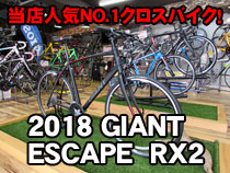 2018 GIANT(ジャイアント) ESCAPE RX2(エスケープRX2)